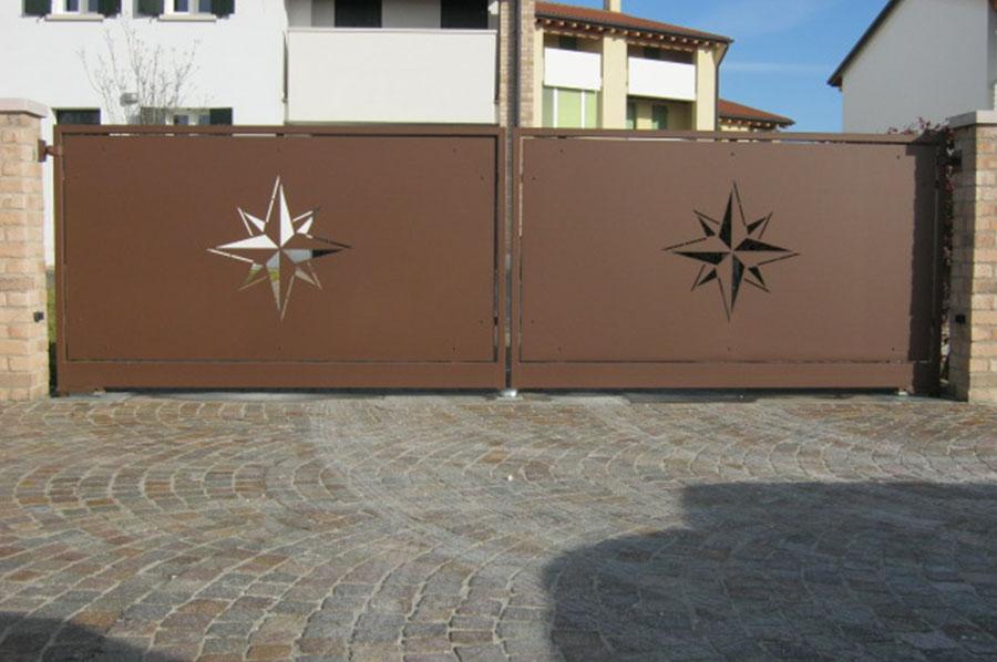 Famoso Cancelli moderni in ferro battuto a Treviso | Cadorin Carpenterie srl WI72